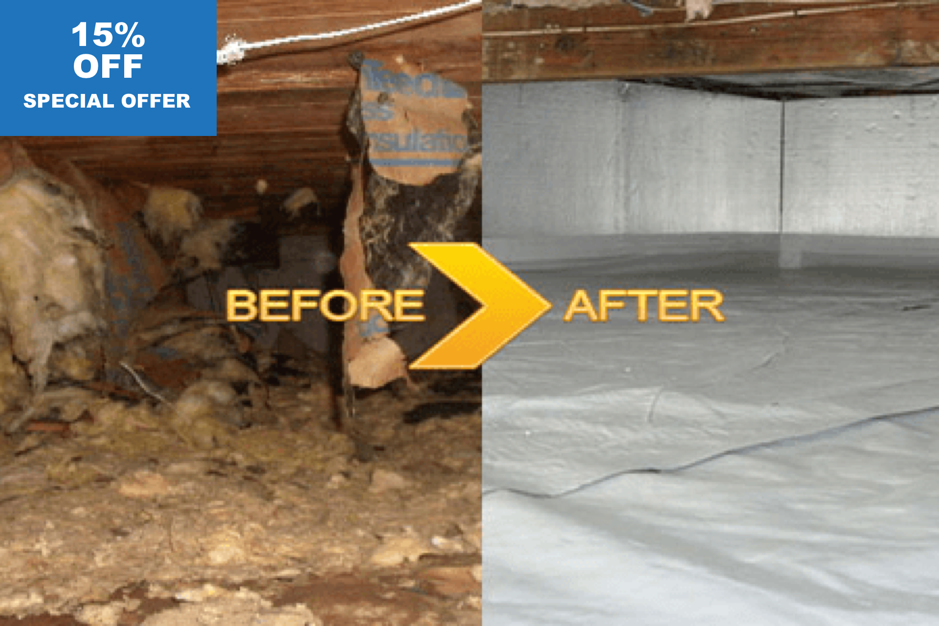 15% Off on Attic & Crawl Space Clean Up